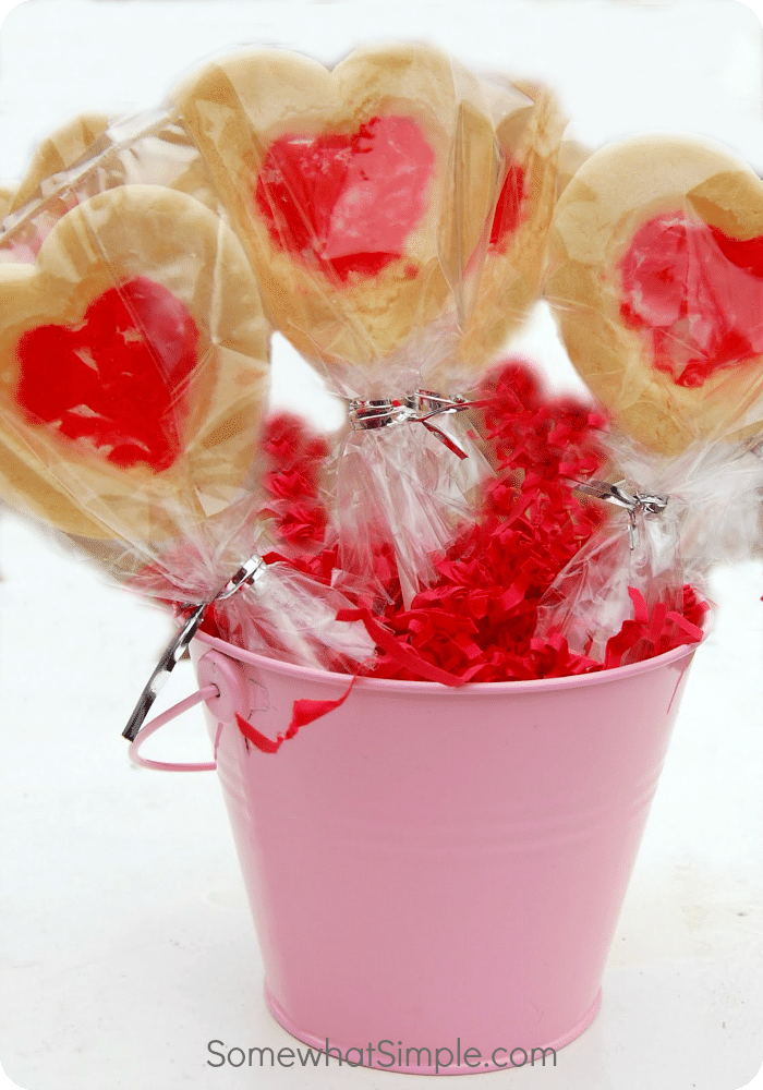 Stained Glass Valentine Cookie Pops 1