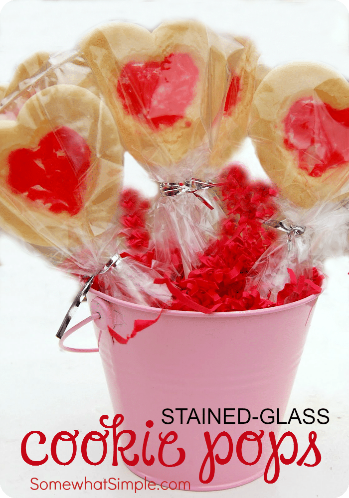 Stained Glass Valentine Cookie Pops 2