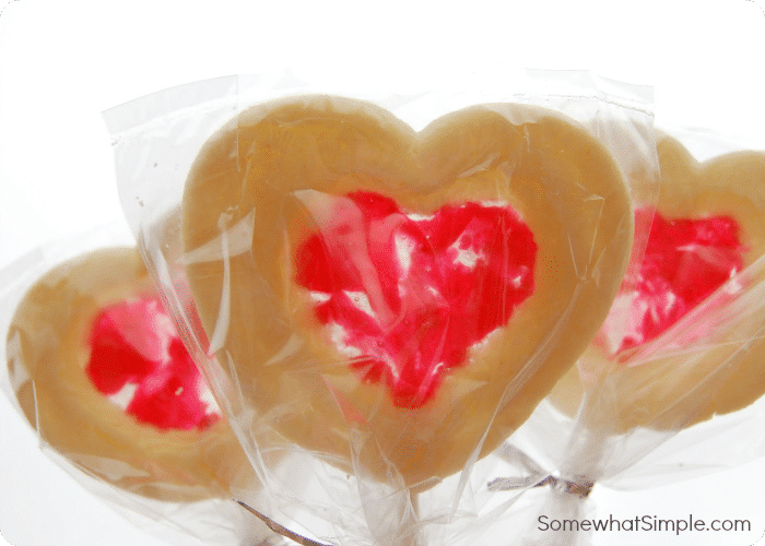 Stained Glass Valentine Cookie Pops 4