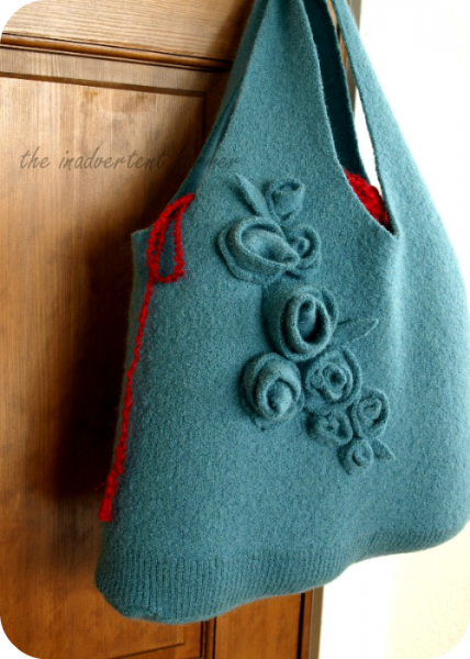 purse made from a sweater