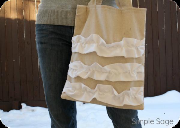 ruffled purse