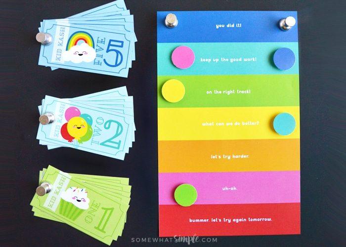 Behavior Chart for Kids + Kid Kash Printable Reward System