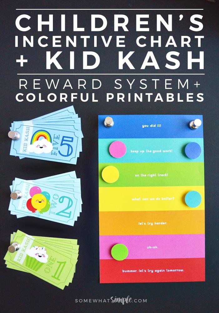 Behavior Chart  Kid Kash Printable Reward System