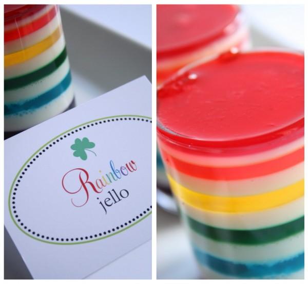 7 rainbow jello