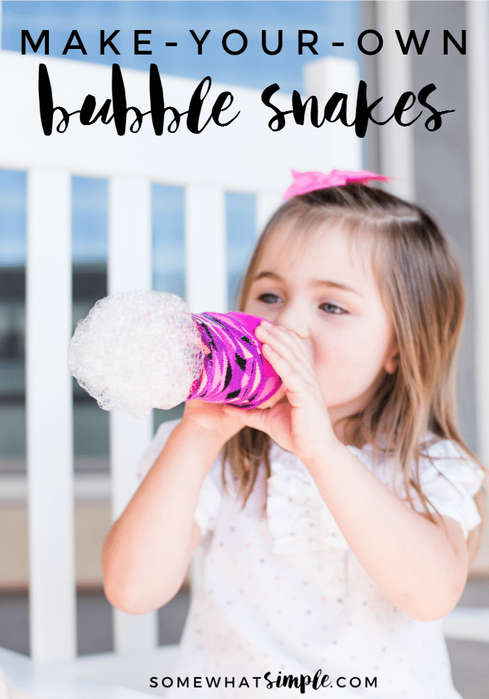 Looking for some good, clean fun? These bubble snakes can be ready in two minutes or less! via @somewhatsimple