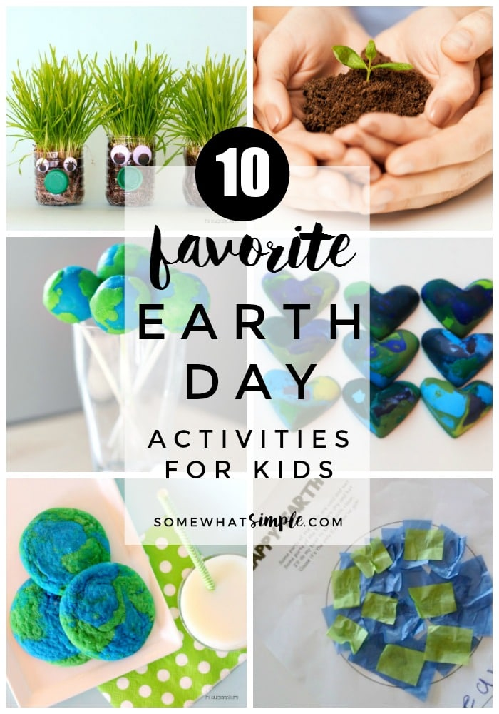 Celebrate and beautify the beautiful place we live with these favorite Earth Day Activities for Kids! via @somewhatsimple