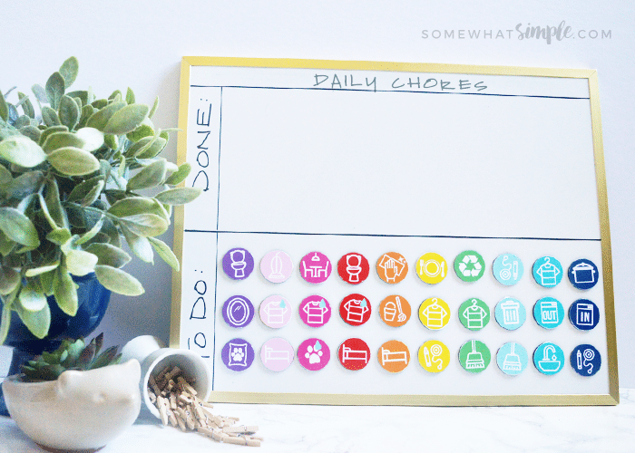 graphic about Kids Chore Chart Printable titled Magnetic Chore Chart For Children (Printables) Rather Easy