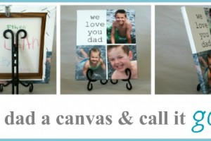 fathers day canvas gift