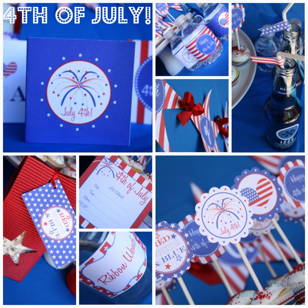 4th of july party and free printables somewhat simple - Blue day celebration ideas ...