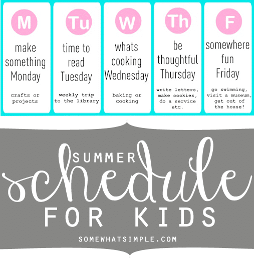 how to make a schedule for kids