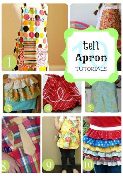10 apron tutorials