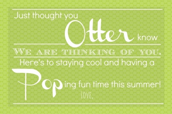 Otter Pop Printable