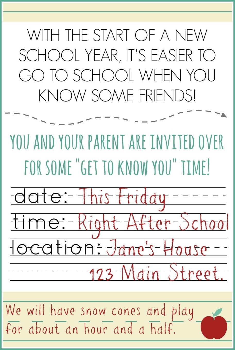 Back to school meet and greet somewhat simple back to school invite 1 m4hsunfo