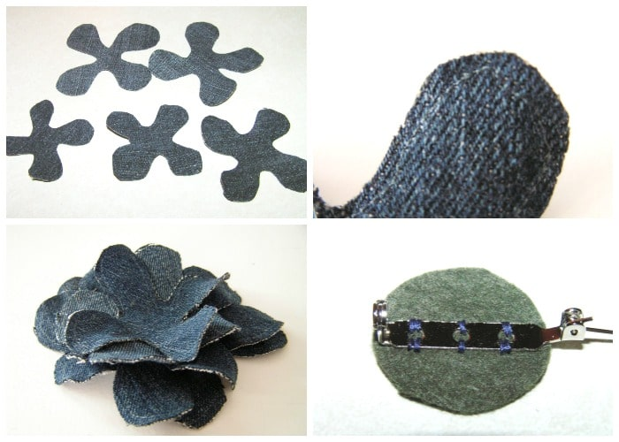 how to make a denim corsage 1
