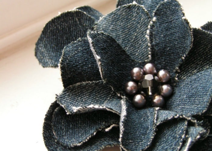 how to make a denim corsage 2