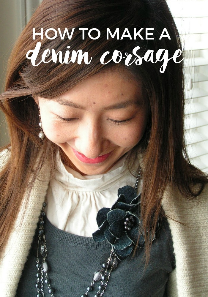 how to make a denim corsage