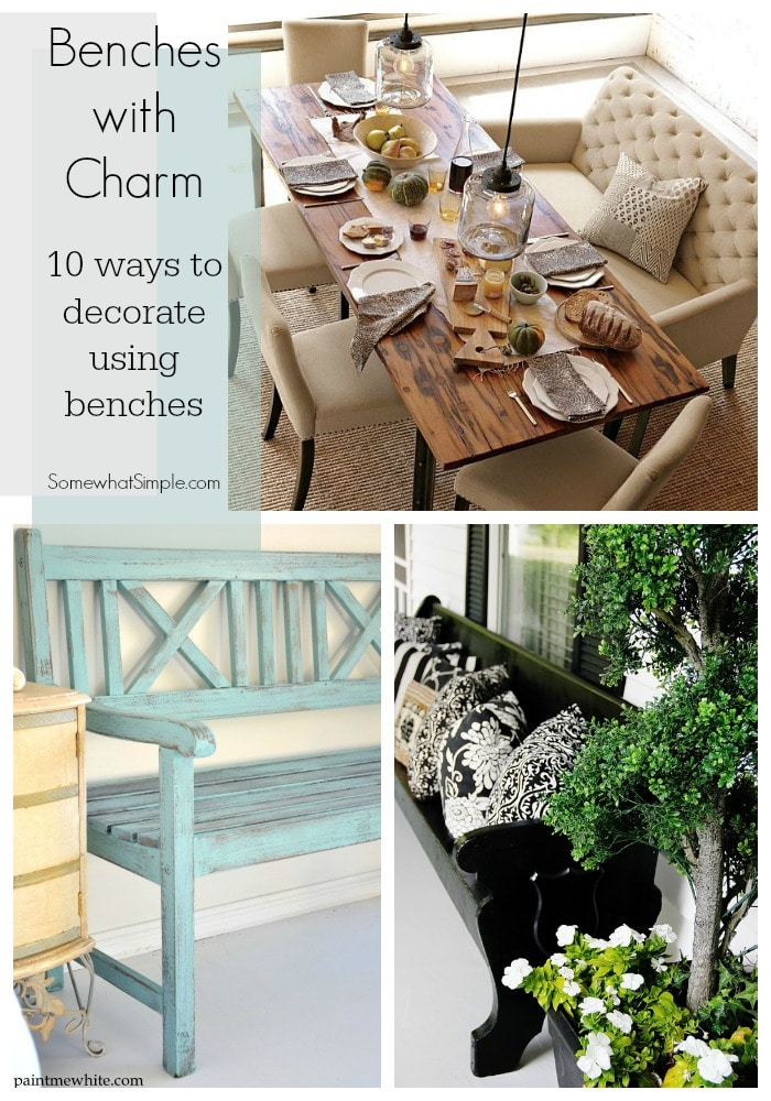 ways to decorate with benches
