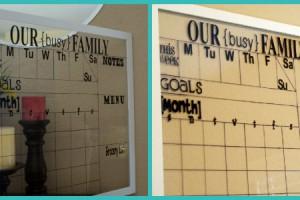 family calendar vinyl