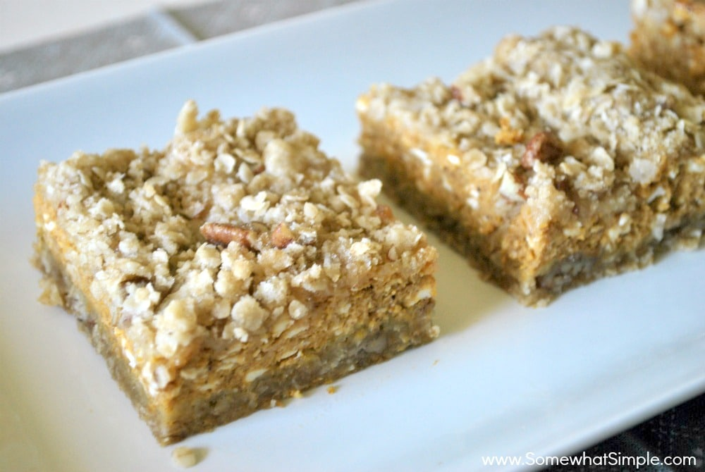 Pumpkin Pie Bars - Somewhat Simple