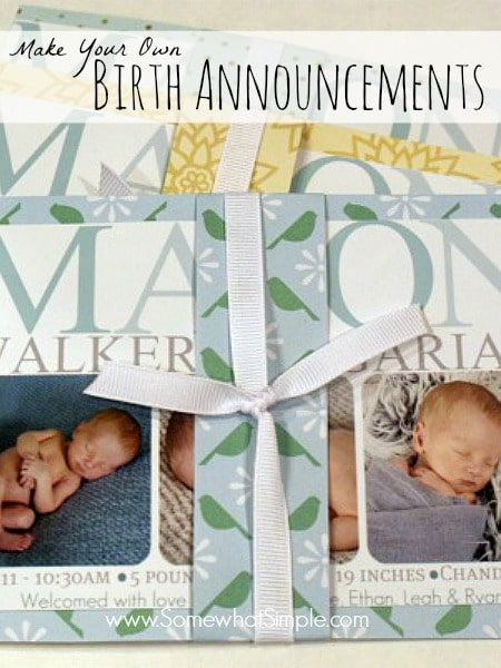create your own birth announcement