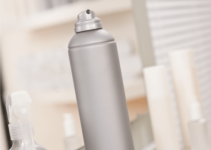 this tip will show you how to get hairspray off walls from this silver can of hair spray