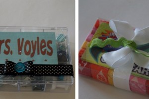 teacher goody box and gift card holder