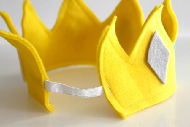 an elastic band added to the crown to make it adjustable so it can be used by multiple people