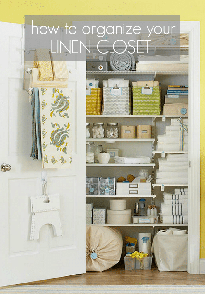Organizing the linen closet somewhat simple for How do you organize your closet