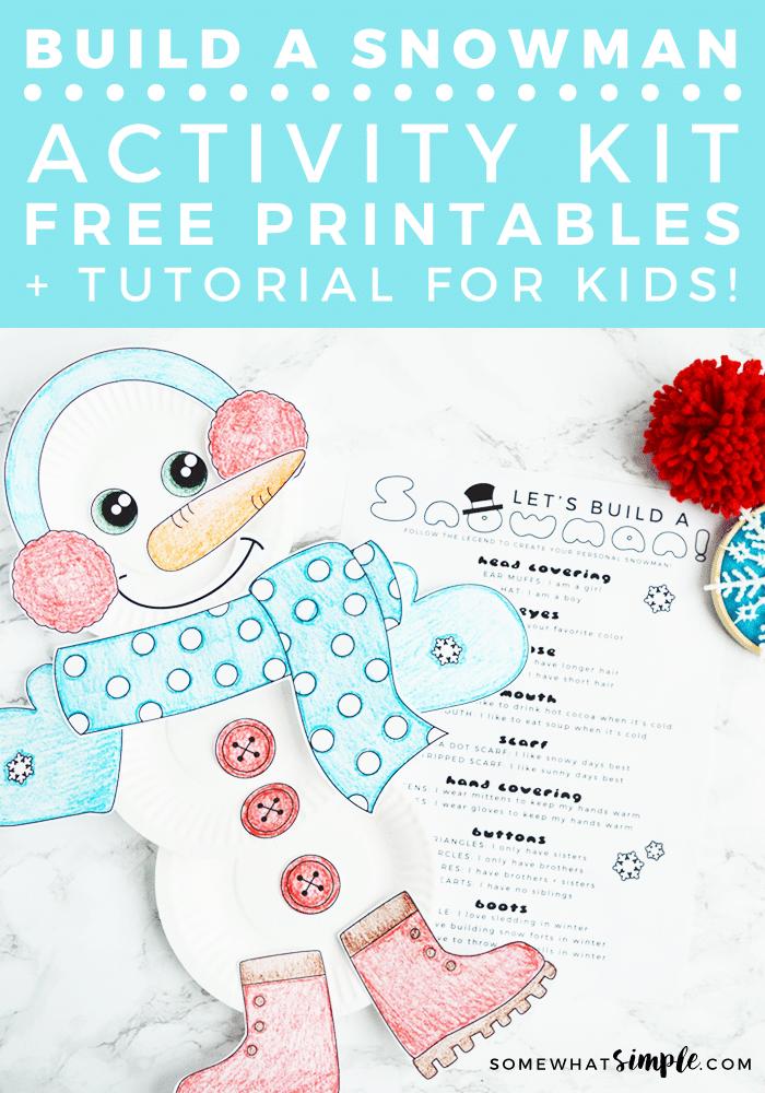 Build A Snowman Activity Kit