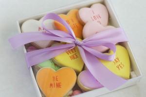 conversation heart cookies 4