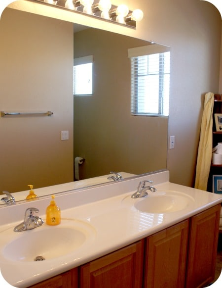 Frame your bathroom mirror over plastic clips somewhat simple Frames for bathroom wall mirrors