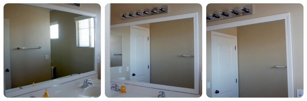 Frame Your Bathroom Mirror Over Plastic Clips Somewhat