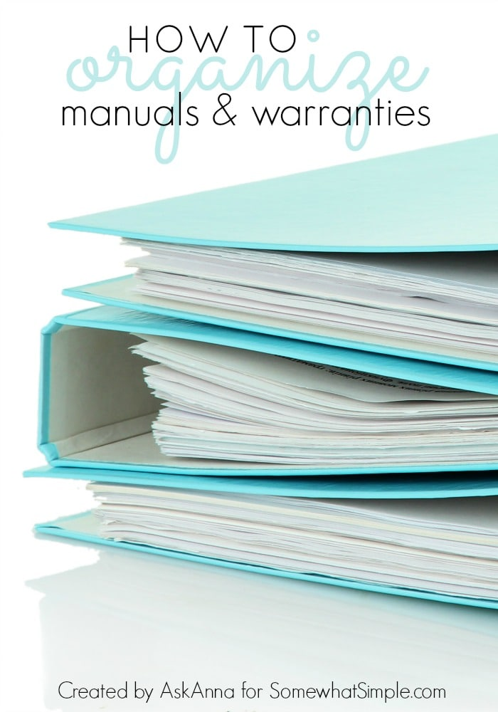 How to Organize Manuals and Warranties
