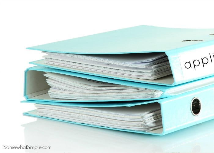 Blue folders, isolated on white