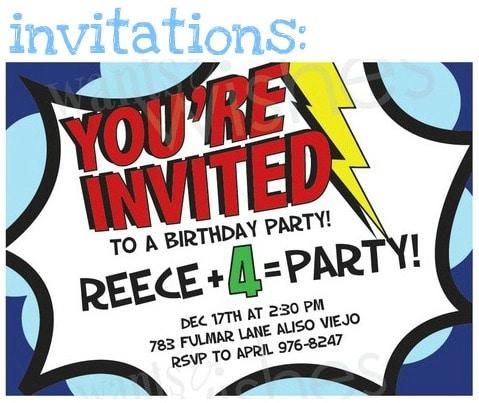 Superheroes vs. Villains Birthday Party