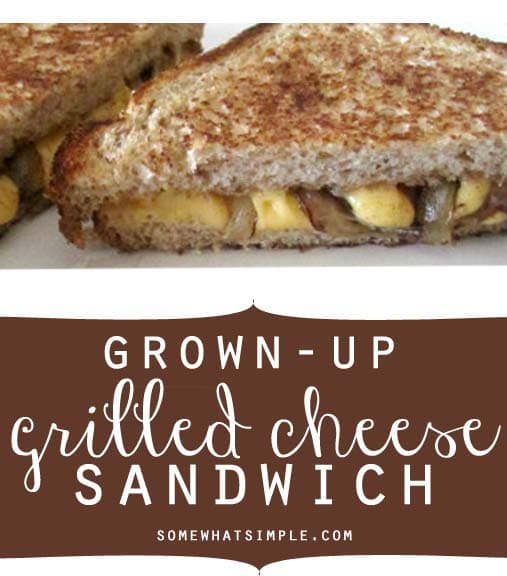 just made a Grown Up Grilled Cheese Sandwich for lunch and I thought ...