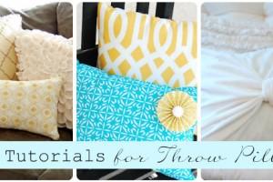 ten tutorials for throw pillows