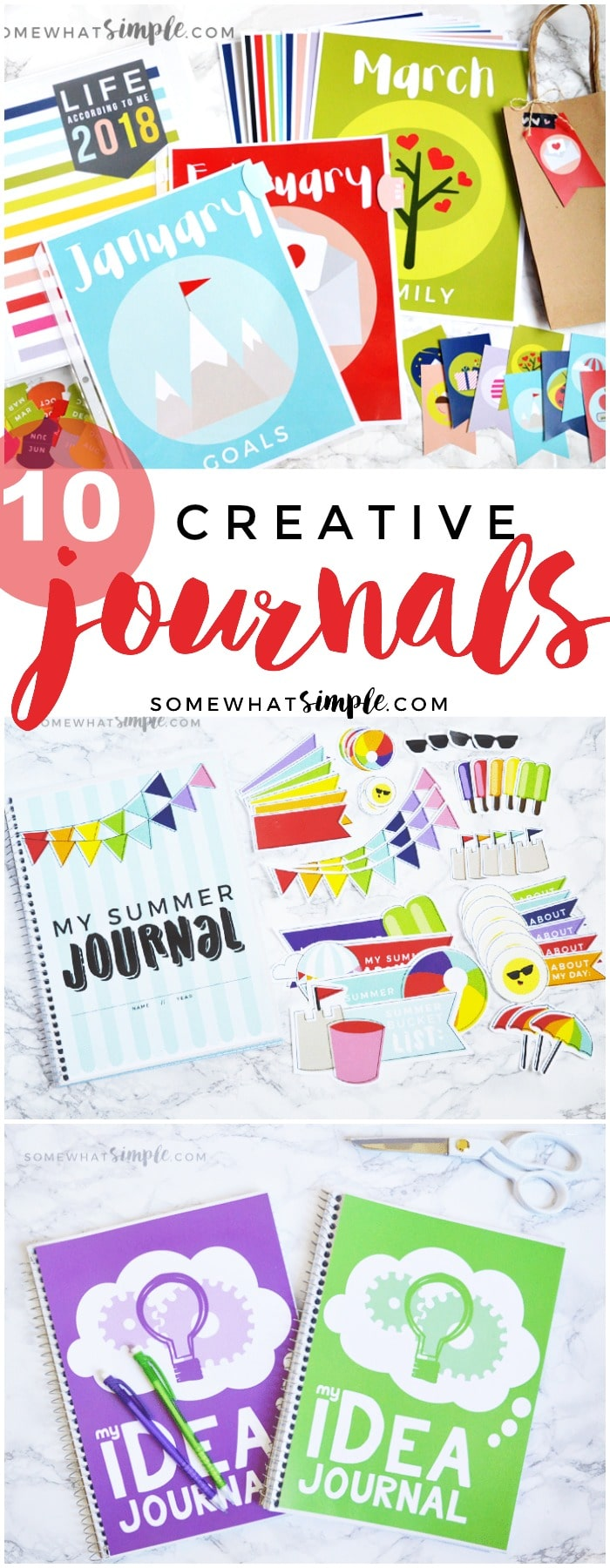 Capture life's ups and downs, the things that make you smile, and everything you're grateful for with these creative journal ideas!