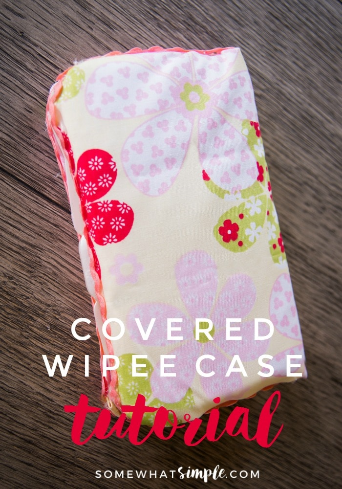 Some of you have asked, so here it is- directions on how to make a No Sew Covered Wipee Case! via @somewhatsimple