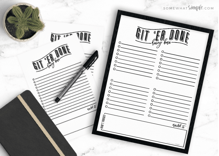 Printable To Do List – Git 'er Done, Honey Bun