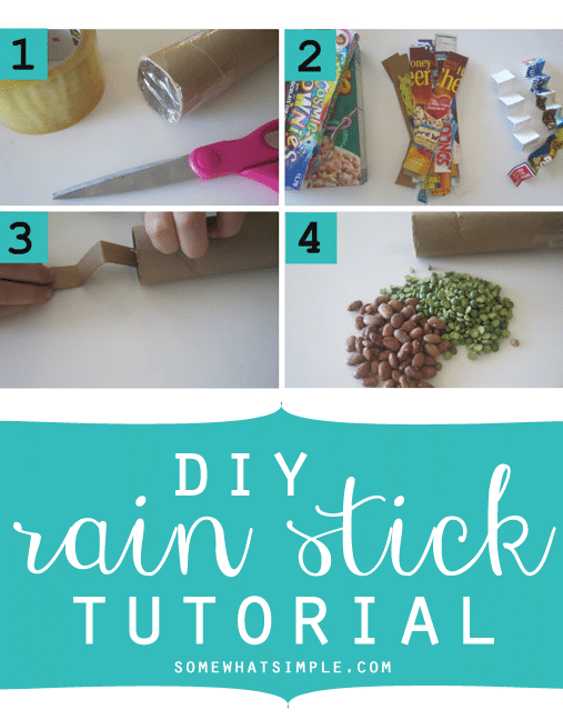How to make your own rain sticks for Easy rain stick craft