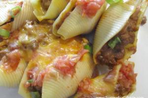 taco stuffed pasta shells 1