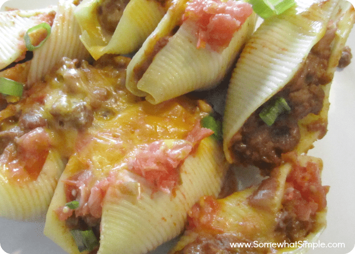 taco stuffed pasta shells 1