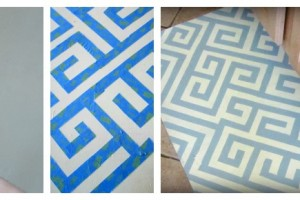 painting a kitchen mat
