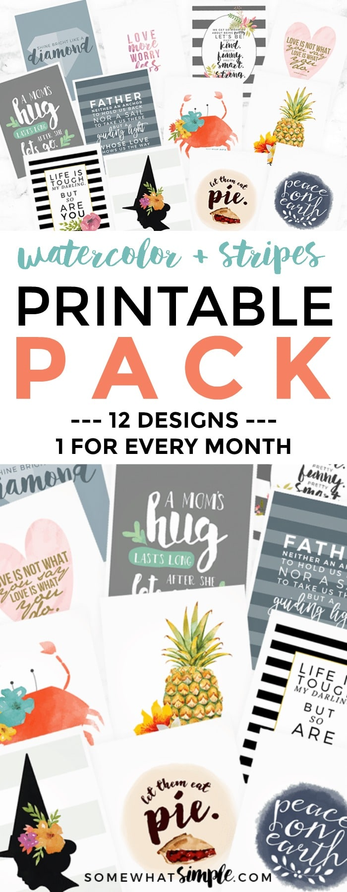 We're making decorating on a budget even easier with 12 Printable Quotes!