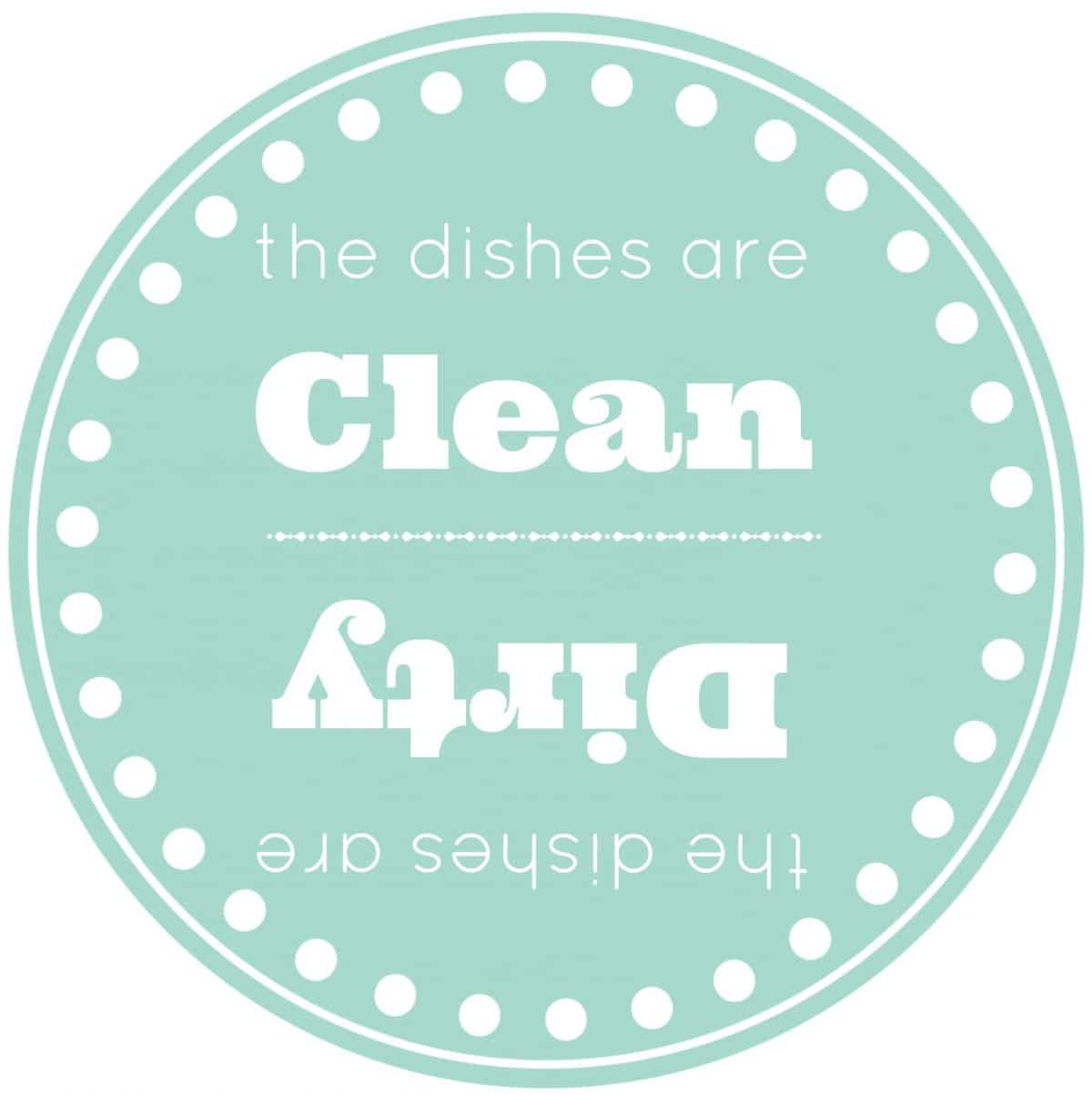 Are the dishes clean or dirty free printable cleanitforward