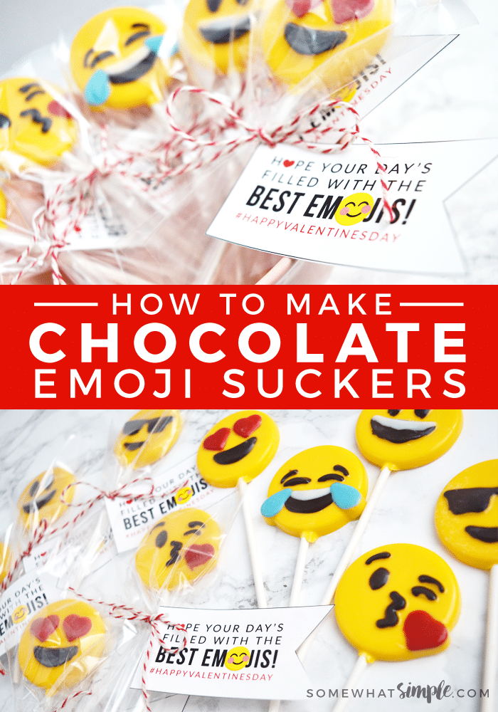 Chocolate Emoji Suckers