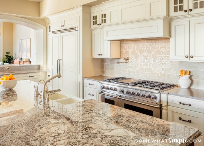 Kitchen rennovation guide 5 simple kitchen updates trend that can really update a space in no time at all one of my favorite kitchens with bamboo blinds is this beautiful kitchen from the inspired room solutioingenieria Images