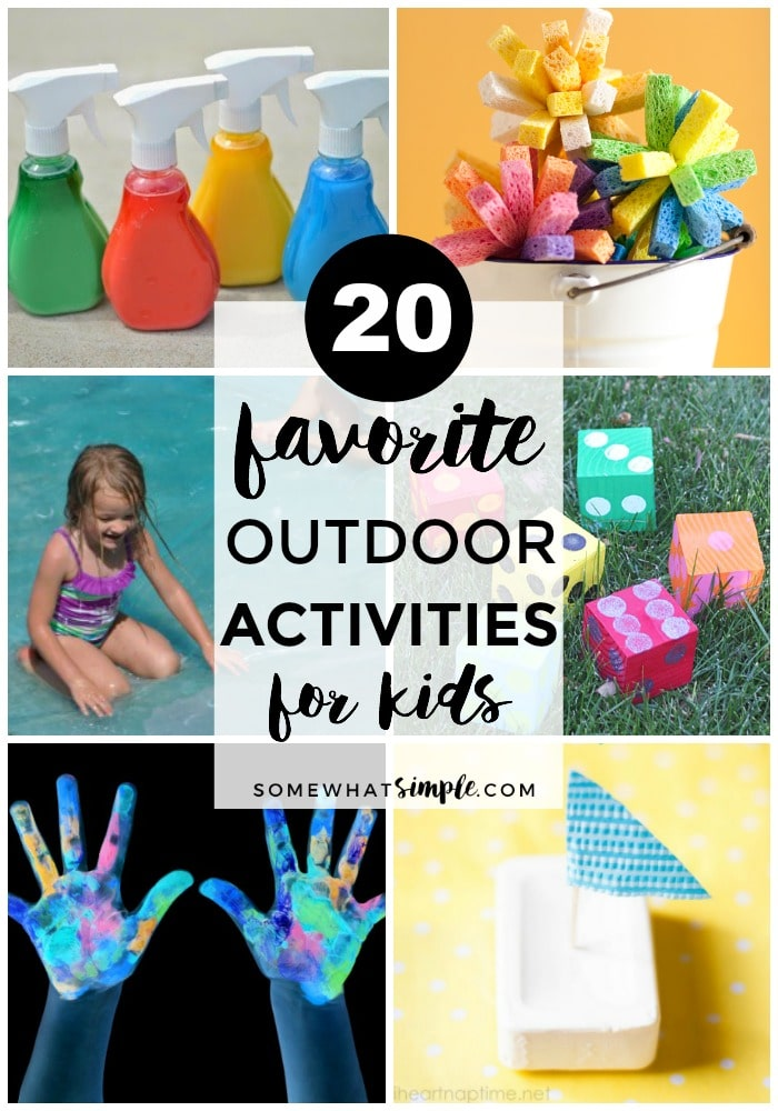 Grab the kids and head outside! Here are 20 favorite summer activities for kids! via @somewhatsimple