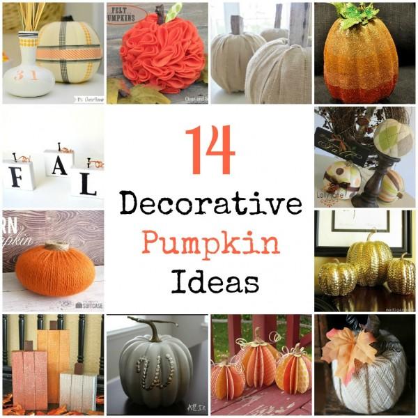 Decorative Pumpkins Somewhat Simple